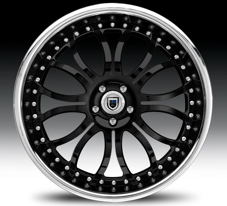 24inch AF150 AF151 AF152 Chrome Multi 2 Piece Rims Wheels Tires