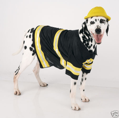 pet DOG puppy animal fireman halloween costume M