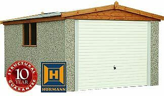 """16Ft 3"""" X 8Ft 6"""" Apex  Concrete Sectional Garage/garages,free Upvc In November"""