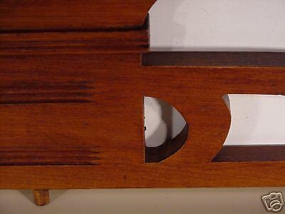 Jugenstil  Arts & Crafts Hand Carved Wood Crown Topper Mantel Molding Antiques 9