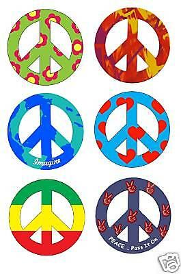 "4"" PEACE SIGN CAR MAGNETS - Choose 1 from 15 designs."