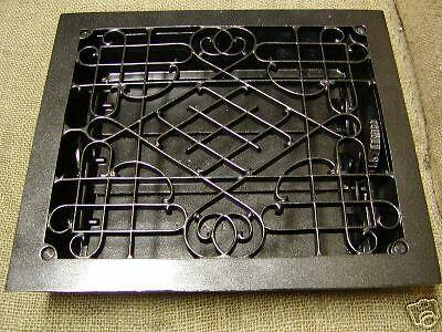Vintage 1800's Cast Iron Register Grate Set Antique ^ 2